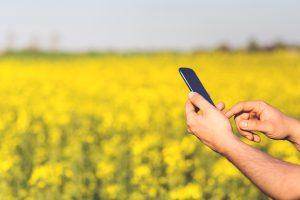 Agricultor com celular