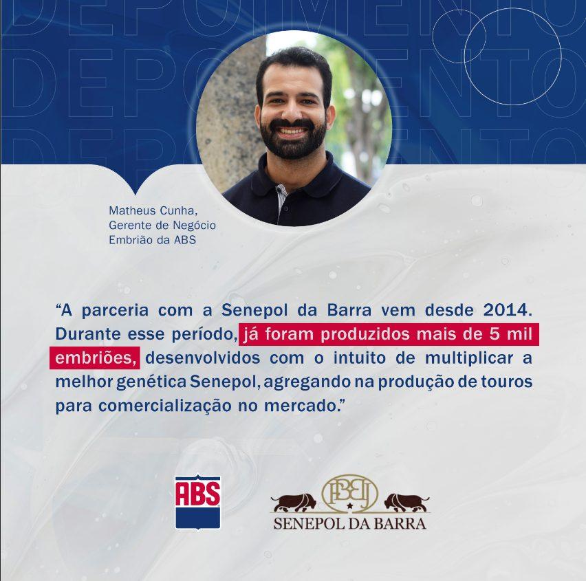 Gerente de Negócio Embrião da ABS, Matheus Cunha